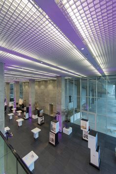 Architecture building: De Rotterdam in the Netherlands. Cell Ceiling by Hunter Douglas.