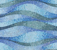Name: Brighton Wave - Glass Style: Metamorphosis Product Number: NRGFBRIWAVE Description: 24 Brighton Wave in glass Copyright New Ravenna Mosaics 2006