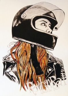 Daria Aldonina - tattoo ideas - Daria Aldonina – – Check more at tattoo. Motorcycle Tattoos, Motorcycle Design, Bike Art, Motorcycle Helmets, Girl Motorcycle, Lady Biker, Biker Girl, Tw 125, Gp Moto