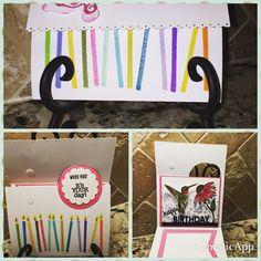A birthday card I made for a good friend using an idea, called Flap Fold Card from Julie Davidson (http://juliedavison.blogspot.com/2014/03/spring-tulips-flap-fold-card.html).  I used the inside to put my friend's favorite bird, a hummingbird.