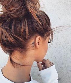 behind the ear tat