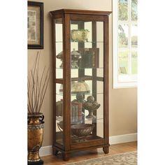 Coaster Fine Furniture Curio Cabinet 950188 Warm Brown #CoasterFineFurniture
