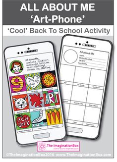 Engage children creatively with this Instagram style, 'tech' mobile phone/tablet 'All About Me' first week back, art and writing activity. Children can learn more about themselves and their peers and teachers can get to know more about their new classroom individuals in an imaginative way.This activity invites students to cut out and make their own fold out booklet style art-phone, and then to complete the image making on the front cover and the written elements inside.