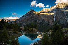 le-lac-bleu_1 Wallis, Half Dome, Photos, Mountains, Nature, Travel, Cabin, Blue, Pictures