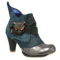 NEW IRREGULAR CHOICE MIAOW CAT GREEN LEATHER HI SHOES/ANKLE BOOTS - SIZE 6 EU 39 | eBay