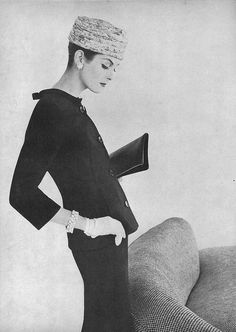 Anne St Marie, March Vogue 1956