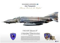 HAF F-4E AUP 117CW Military Art, Military History, Hellenic Air Force, F4 Phantom, Military Drawings, Navy Air Force, Camouflage, War Thunder, Special Forces
