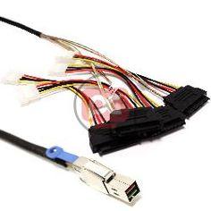Cable minisas-hd sff-8644 a sff-8482 4x 1m STORE_GA41 Adaptador y accesorios sata sas PC Imagine
