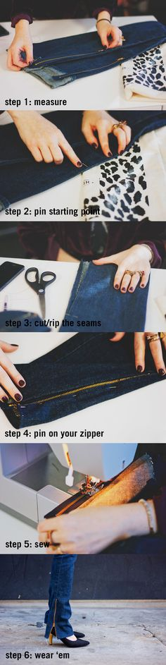 DIY - ankle zipper jeans  {just pick a more flattering pair of pants!!!}