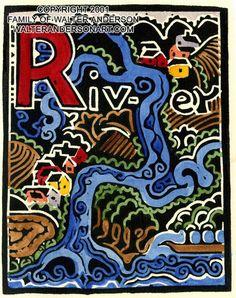 "M + H:  Walter Anderson R River print  11x14"""