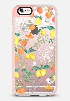 Fruits and Birds - New Standard Case in Peach Pink by Bianca Pozzi | @casetify