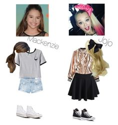 """Jojo and Mackenzie"" by zyonwilson7 ❤ liked on Polyvore featuring SIWA, rag & bone/JEAN, Sans Souci, WithChic and Converse"