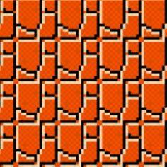 Super Mario - ground pattern