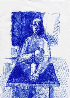LUIS DESENHA: Homem com copo de aguardente