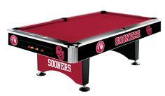 Imperial International Oklahoma Sooners Pool Table   http://www.gameroomhub.com/collections/pool-tables/products/imperial-international-oklahoma-sooners-8-pool-table