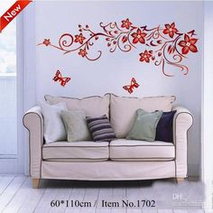 Decorative Butterfly and Flower Wall Decor