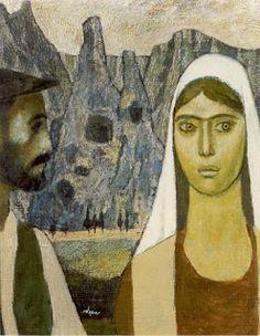 Görsel Sanatlar Deposu / Fine Arts Archive: Nuri İYEM / Anadolu / Turkish Painter Kinder Art, Mona Lisa, Figurative, Archive
