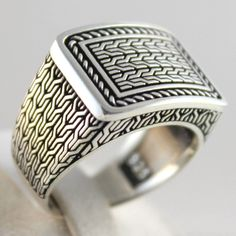 Luxury 925 Sterling SILVER Special Turkish Handmade Men Ring All Sizes | Jewelry & Watches, Men's Jewelry, Rings | eBay!