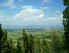 The valley from Lookout Point on Casper Mountain.