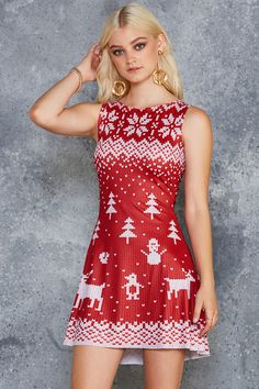 Still Not Actually Knitted Red Play Dress - 7 DAY UNLIMITED ($85AUD) by BlackMilk Clothing