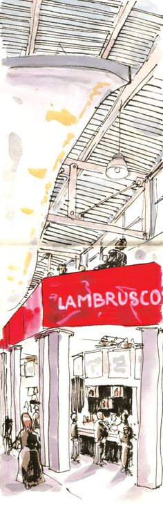 #Lambrusco #wine #Vinitaly 2015 #sketching #sketchcrawler #illustration  #winelovers #Italy #Modena  Illustrazione di Dario Grillotti