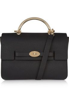 Mulberry The Bayswater Shoulder large textured-leather bag | NET-A-PORTER