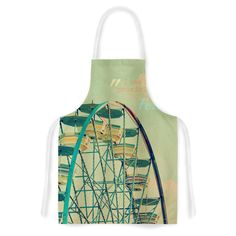 Ferris Wheel Fabric Artistic Apron