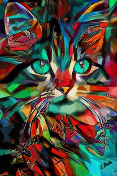Léa Roche - Titus royal - Catawiki - Galaxy Painting - Step By Step Acrylic Painting Tutorial Cat Painting, Diy Canvas Art Easy, Art Painting, Animal Art, Cat Art, Easy Canvas Art, Canvas Art, Pop Art, Colorful Animal Paintings
