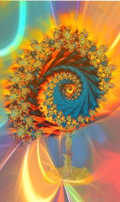 connection between mystic religious monstrance, fractal and abstract cosmic space