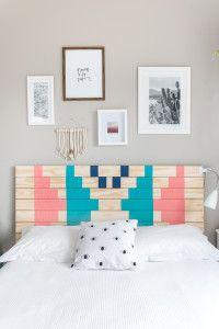 DIY cabeceira de madeira personalizada   A Parede Indecisa