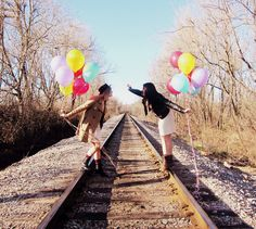 pretty winter day with two stylish girls and balloons?! where can I find 2 girls!                                                                                                                                                                                 Plus
