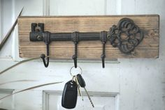 Wall Key Holder Rustic Key Holder for the by ReviveAllHomeGoods