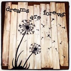Wish Flower Pallet Board Painting by TheVelvetRhino on Etsy, $75.00