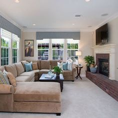 Family Room - contemporary - family room - san diego - Style On a Shoestring  LOVE!!