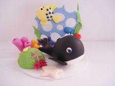 Topo de bolo com tema do Fundo do Mar,ideal pra decoração de  festas infantil. R$ 67,00