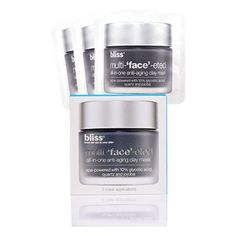 bliss Multi-'Face'-Eted Single Sachets Mask (3 x 4ml) ($13) ❤ liked on Polyvore featuring beauty products, skincare, face care, face masks, hydrating face mask, moisturizing face mask, hydrating mask, hydrating facial mask and facial cleansing mask