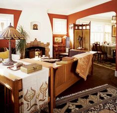 19 lovely art deco living room ideas for modern interior Painting Wooden Furniture, Furniture Near Me, Deco Furniture, Antique Furniture, Rustic Furniture, Craftsman Furniture, Bungalow Living Rooms, Bungalow Homes, Craftsman Homes