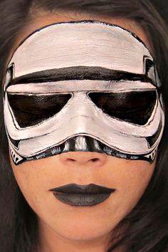 Storm trooper face paint