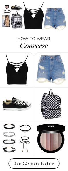 """Untitled #4330"" by if-i-were-famous1 on Polyvore featuring Everest, River Island, Boohoo, Converse and Edward Bess"