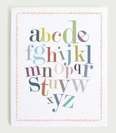 Alphabet Border Print by ModernPOP on Etsy