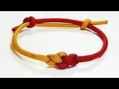 Paracord Bracelet: Two Color Eternity Knot Frindship Bracelet With Adjustable Sliding Knot Closure - YouTube