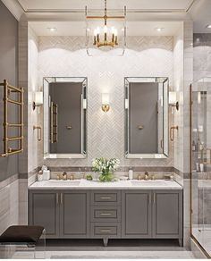 These simple and beautiful powder room ideas can completely transform the look of your half bathroom! Give them a try. [Modern Powder Room Ideas, Half Bath Decor Ideas, Half Bathroom Renovation Ideas] #HalfBath #PowderRoom #SmallBathroom