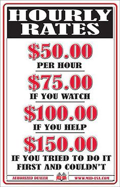 """EMBOSSED METAL HOURLY RATES SIGN LABOR MECHANIC GARAGE SHOP FUNNY 11"""" x 17"""""""