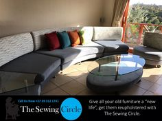 Give all your old furniture a new life, get them reupholstered with The Sewing Circle.  At The Sewing Circle we take great pride and care in all of our work to ensure the complete satisfaction for our clients. We have a wide range of services to offer, ranging from car and boat upholstery to the supplying of curtain railing and more.  For any more information please don't hesitate to give us a call.  Phone: 039 312 1741  Email: Info@TheSewingCircle.co.za   Website: www.TheSewingCircle.co.za…