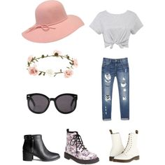 Casual Day by stephanie-rozek-paris on Polyvore featuring polyvore, fashion, style, Zara, Dr. Martens, T.U.K., H&M, Monki and Accessorize