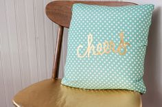 no sew pillow cover - add Heat Transfer Material - a Silhouette project