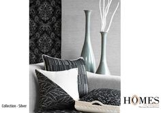 Velvet Collection - Silver. For best Home furnishings visit www.homesfurnishings.com #HomeDecor #interior #design #home #homesweethome #luxurious #luxe #inspiration