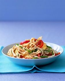 Asian Noodles with Chicken and Pineapple Recipe | Martha Stewart