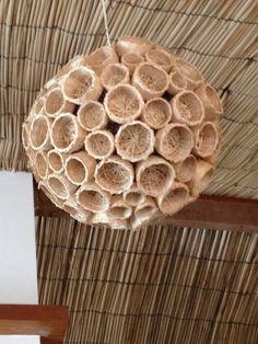 Lustre de cestinhas, restaurante Dona Mariquita, Salvador