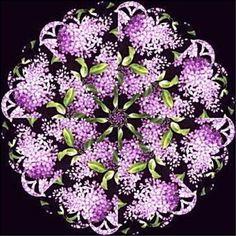 FRAGRANT LILACS Kaleidoscope QUILT BLOCKS KIT Lilac #JellyRolls2GoCountryCottageExclusive